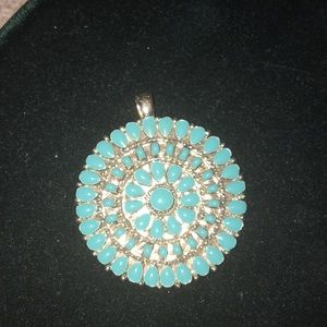 Jewelry - Silver and Robins Egg Blue Pendant